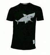 爆買い大得価2017良い品質百搭ファッションTHOM BROWNEトムブラウン コピーサメ刺繍半袖Tシャツ