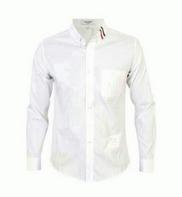 爆買い品質保証THOM BROWNE トムブラウン ロングスリーブシャツ グログランプラケット ホワイト オックスフォード