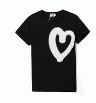 春夏超激得新作大人可愛いACNE アクネ 通販 クルーネック ハートプリント半袖 Tシャツ 綿 2色可選