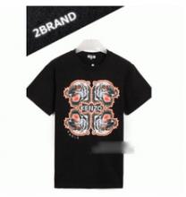2017年春夏新作KENZOケンゾー tシャツ 半袖 トラ プリント ロゴ 丸首 クルーネック  綿 コットン 2色可選 男女兼用