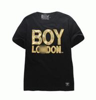 春夏爆買い大得価BOY LONDON ボーイロンドン tシャツ ロゴ入り プリント 半袖 クルーネック 綿 コットン 2色可選