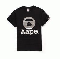 春夏爆発的通販 A BATHING APE アベイシングエイプ tシャツ 半袖 ロゴ プリント カットソー トップス コットン 2色可選