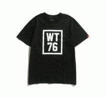 春夏爆買い大得価WTAPS ダブルタップス WT76ボックスロゴ Tシャツ 黒白 クルーネック 半袖 男女兼用 2色可選