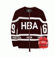 秋冬爆買い新品HBA フッドバイエアー 通販 スウェット ロゴ 刺繍 裏起毛 ジップアップ ジップパーカー 綿 長袖 2色可選