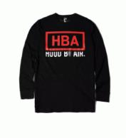 秋冬数量限定得価HBA フッドバイエアー 通販 プリント おしゃれ tシャツ 長袖 ロングT カットソー メンズ 2色可選