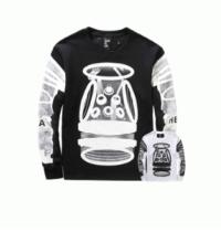 秋冬新作入荷人気HBA フッドバイエアー 通販 オリジナル プリント 長袖 Tシャツ コットン ロンT カットソー 2色可選