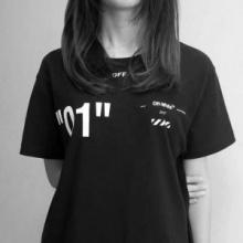 HOT春夏人気セールOFF-WHITEオフホワイト tシャツバックプリントペアルック恋人カップル男女兼用半袖2色可選