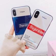 上品オトナ感 シュプリーム SUPREME 2018ss トレンド iphone6 ケース カバー 2色可選