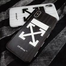 お買い得大人気OFF-WHITEオフホワイト コピーロゴプリントiphone8ケースアイフォン8ケースカバー2色可選