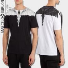 2018春夏人気定番新品MARCELO BURLONマルセロバーロン tシャツ プリント コピー黒白トップス半袖2色可選