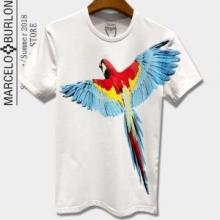 春夏品質保証安いMARCELO BURLONマルセロバーロン tシャツ ブランド コピープリント個性的丸首半袖2色可選
