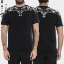 2018春夏数量限定格安MARCELO BURLONマルセロバーロン tシャツ プリント コピー吸汗速乾半袖黒白2色可選