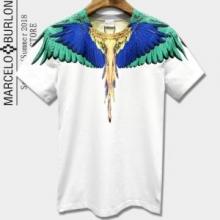 2018春夏最新作MARCELO BURLONマルセロバーロン コピー 激安フェザー tシャツ半袖プリント夏服2色可選
