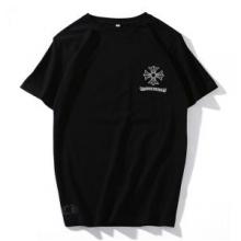 偽 ブランド 販売_クロムハーツ tシャツ プリント コピーCHROME HEARTS通気性カジュアルトップス2色可選春夏激安大特価新品
