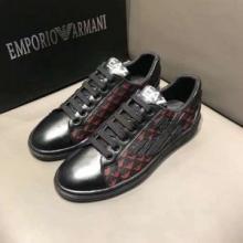アルマーニ スニーカー スーパー コピーARMAN歩きやすいカジュアルローカット靴黒ブラック数量限定低価