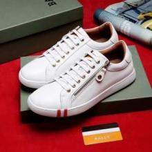 人気セール新作BALLYバリー 靴 コピーメンズレザースニーカーローカットレースアップシューズ黒白2色可選