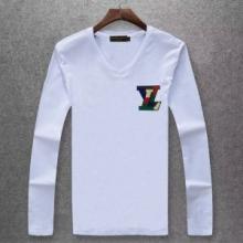 ルイヴィトン tシャツ コピーLOUIS VUITTON無地Vネック長袖コットンカットソートップス6色可選秋冬人気セール新作