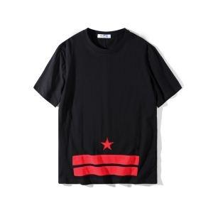 ブランド 品 激安 通販_HOT春夏100%新品ジバンシーgivenchy tシャツ コピー星プリントンズ服半袖カットソーアンダーウェアトップスブラック