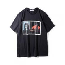 ブランド 偽物 激安 通販_ジバンシー スーパー コピーGIVENCHY PRINTED T-SHIRTSプリントTシャツ丸首黒ブラックトップス春夏品質保証得価