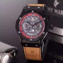個性的な素材感も魅力 ウブロ HUBLOT オリジナル クオーツ ムーブメント 男性用腕時計 6色可選