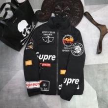 激安 高品質新作Supreme シュプリーム ジャケット 通販 メンズファッションコート コピー ブラック立襟防寒 暖かい アウターカジュアル おしゃれ