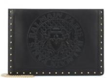 流行色2019年春夏BALMAIN Domaine leather shoulder bagショルダーバッグ ロゴ バルマン 風 スタッズ コピー 人気アイテム
