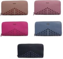 最安値販売トッズ ブランド 新品TOD'S ZIP AROUND WALLETコピー 安い 財布 スタッズ 機能性も高い ロングウォレット 5色