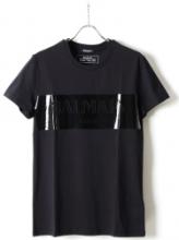 注目新作2019春夏限定販売 BALMAIN T-SHIRTS LOGO LAMINATEバルマン コピー 半袖  コットン トップス 人気 tシャツ コーデ