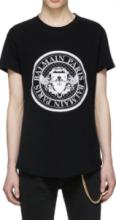 おしゃれな大人の着こなしコーデ BALMAIN S8H8135 J159 176 T-SHIRTバルマン 激安2019春夏最新コレクション 半袖 コットン tシャツ