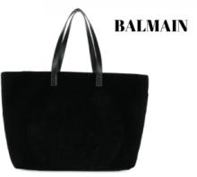 完売必至☆2019年BALMAIN velvet shopper bagコピー バルマン トートバッグ 大容量 コーデ レディース 激安 バッグ 人気 通販