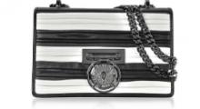 VIPセール新作Balmain Striped Pleated BBox 20 Flap Bag バルマン ショルダーバッグ 人気 エレガントスタイル 斜め掛けバッグ