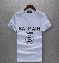 特別価格!コピーブランド バルマン 2019新作コレクション Balmain Paris半袖 tシャツ コーデ 人気 ファション メンズ トップス 白