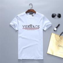 2019SS新ブームヴェルサーチ コピー VERSACE TABLOID MOTIF SLIM FIT T-SHIRTロゴ tシャツ おすすめ ストリート 人気 着こなし