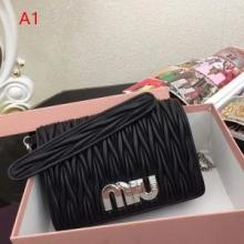 SALE!高品質MIUMIU 最新コレクション2019レザー製品 ミュウミュウ マテラッセ ショルダーバッグ コーデ2way斜め掛け 女性バッグ