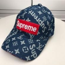 Louis Vuitton × Supremeキャップ ルイ ヴィトン コピー 野球帽 20代男性にLVロゴプリント エレガント ユニセックス 美品