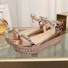 おすすめ30代女性にルブタン 靴 サイズ感 歩きやすい Christian Louboutin Pyraclou 60 mm サンダル カジュアル 厚底 11901023053
