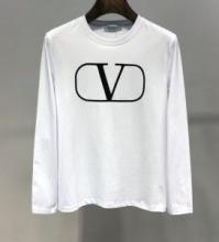 Valentino 2019最新版のヴァレンティノ コピー スウェットシャツ クルーネック Vロゴクラックプリント 上品コンパクトRV0MF02PZAY 0NI