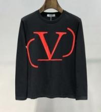Valentinoパーカー ヴァレンティノ コピー スウェットシャツ クルーネック Vロゴプリント 長袖Tシャツ 2019秋冬SV3MF05H5F7 I52