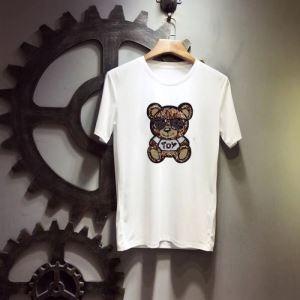 肌に馴染みやすい 2019最新コラボ完売間近 着心地満点  Tシャツ/半袖モスキーノ MOSCHINO 2色可選