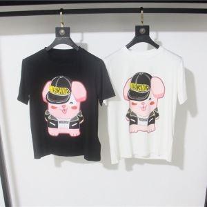優しいフィット感 19新作 セール 大人OK 2色可選Tシャツ/半袖 モスキーノ MOSCHINO この夏に入れるべき