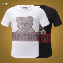 レトロな雰囲気が漂う モスキーノ2019SS春夏 人気モデル しわになりにくいMOSCHINO Tシャツ/半袖3色可選