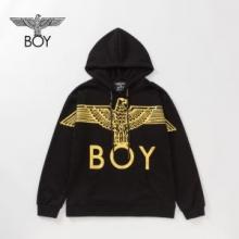 ブランド スーパー コピー 優良 店_ボーイロンドン パーカー ブランド コピー 2019秋冬の人気アイテムセール Silver Eagle BOY Brushed Sweatshirt-BLACK-GOLD