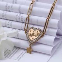 大人の女性にディオール L'Amour Avenirネックレス ゴールド チョーカー DIORアクセサリーコピー 特別感の高い おしゃれコーデ