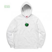 秋冬シーズンおすすめの防寒着 パーカーSupreme 19AW Apple Hooded Sweatshirt 苹果logo 秋冬仕様なオシャレトレンドブランド 2色可選