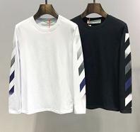 セール価格でお得 新作 Off-White オフホワイト 長袖Tシャツ 2色可選 超カッコイイ 2019春夏新作