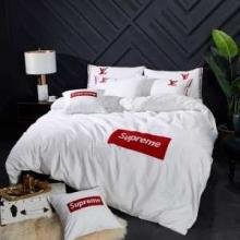 Supreme× Louis Vuitton コピー 寝具 人気ランキング やっぱり優しい色 エレガント シュプリーム コピー 布団カバーホワイト
