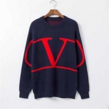 クルーネックニットセーターValentino V ロゴニットスウェット 着こなしが素敵秋冬定番新品ヴァレンティノ コピー 暖かさコーデ