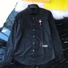 KARLITO フェンディ メンズ シャツ 上品な大人コーデに仕上げるモデル 2019秋冬 FENDI コピー 黒白2色 ブランド 通勤通学 格安