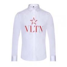 VLTN ヴァレンティノ メンズ シャツ 見た目の上品さで魅了 限定品 VALENTINO コピー ホワイト デイリー スター ブランド 最高品質