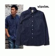 爆買い品質保証VISVIM ビズビムデニムシャツ メンズ 長袖 タンガリーシャツ ウエスタンシャツ メンズ長袖トップス ヴィンテージ加工